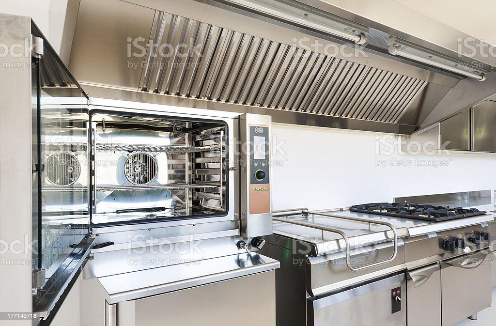 interior, professional kitchen stock photo