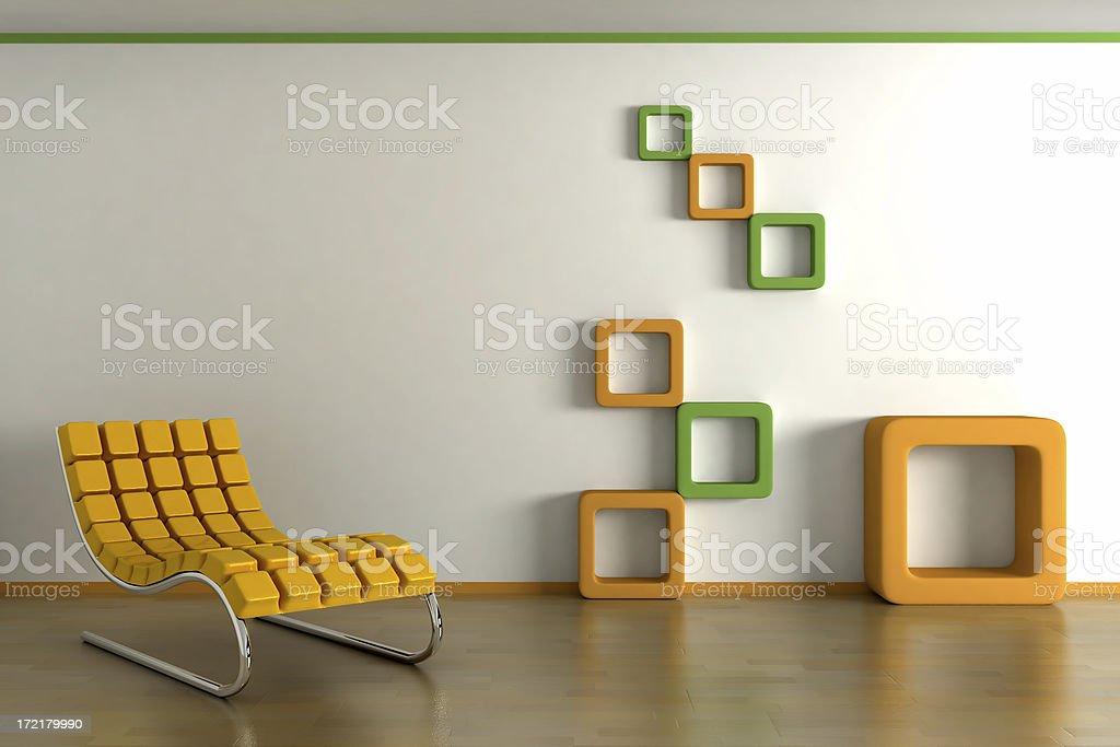 interior render (CGI) stock photo