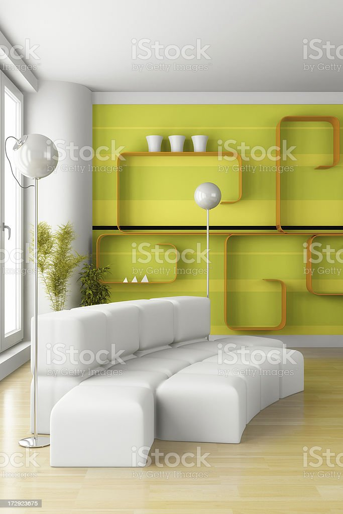 Interior render (CGI) royalty-free stock photo