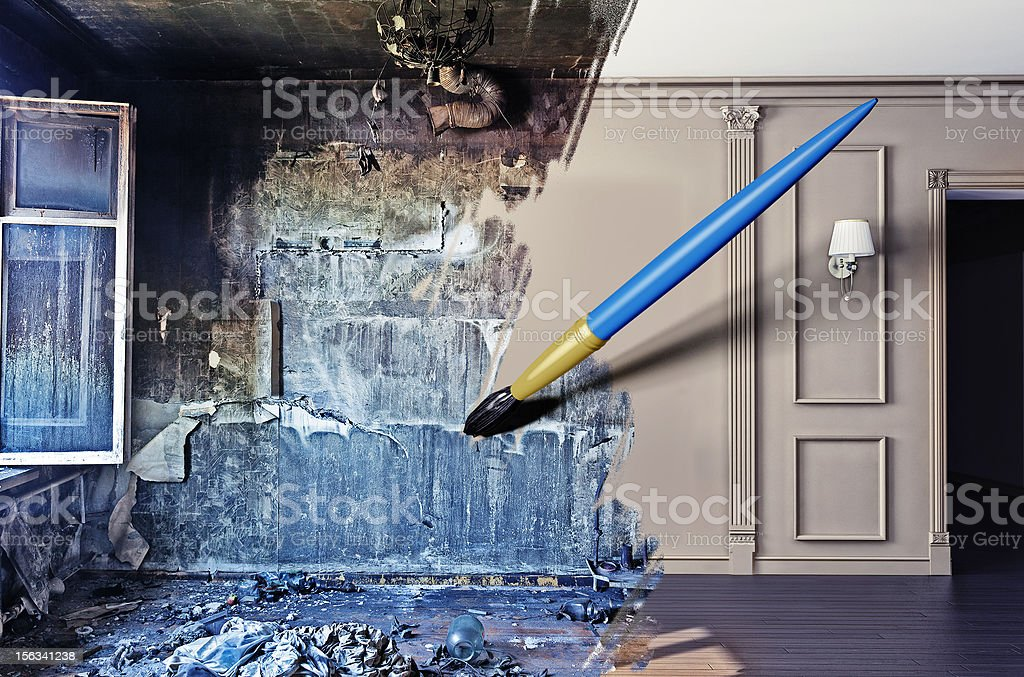 interior renovation stock photo