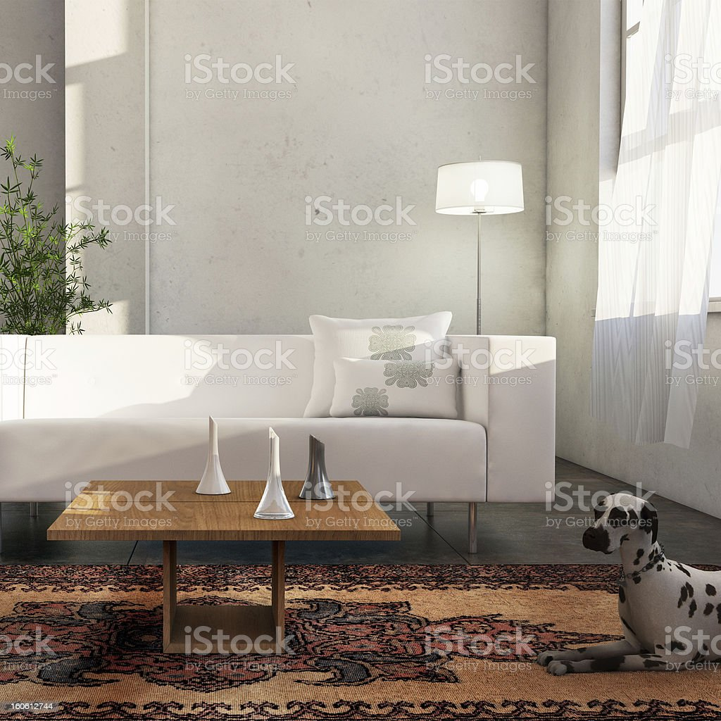 Interior room detail stock photo