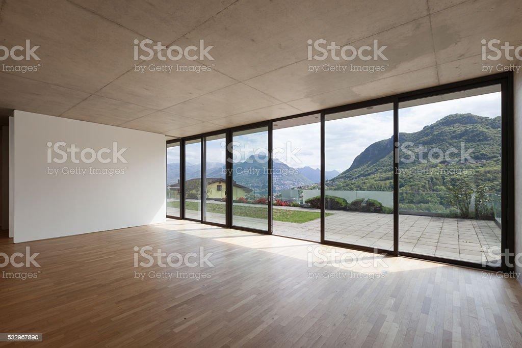 Interior, room of modern building stock photo