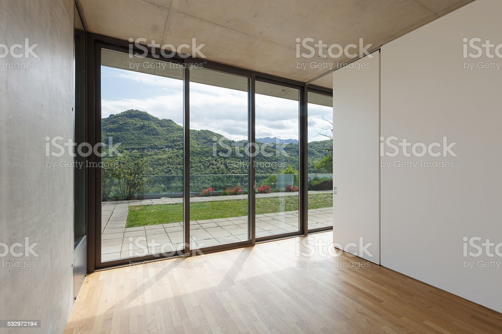 Interior, room of modern building stock photo