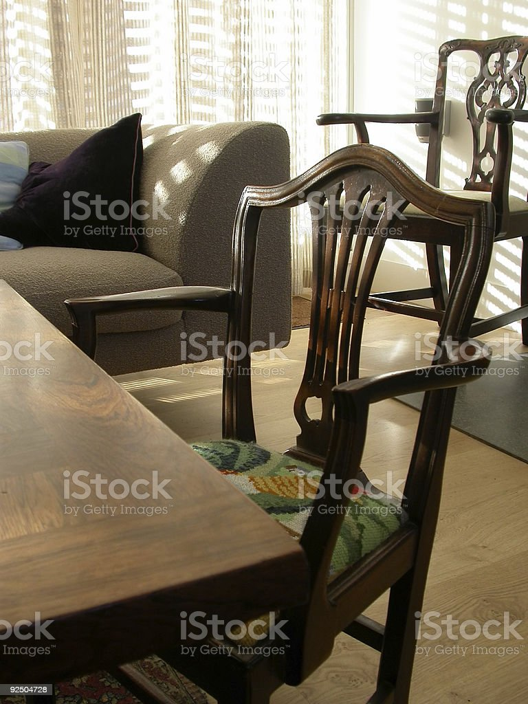 Interior - Room with chairs royalty-free stock photo