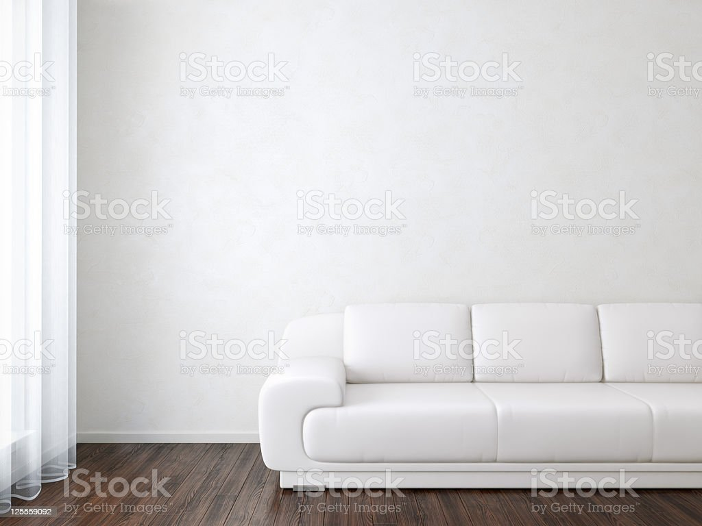 Interior Room with Sofa near Wall royalty-free stock photo