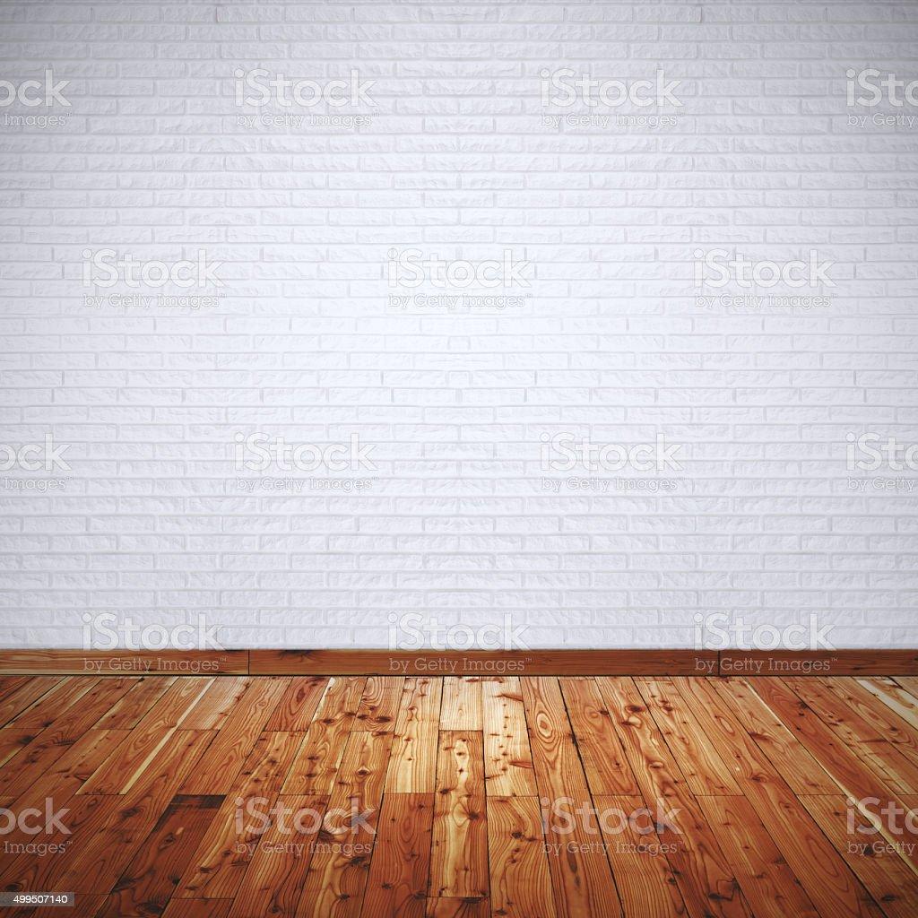 interior room with white brick wall stock photo