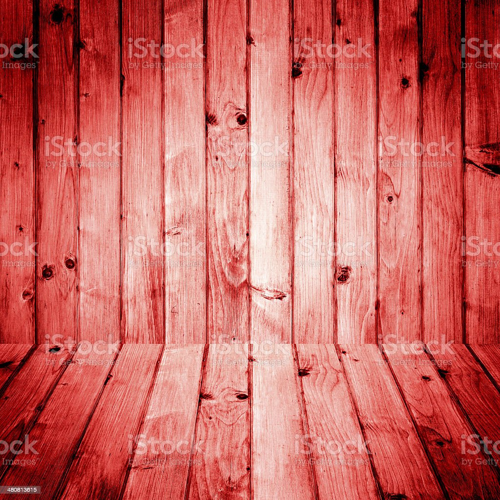 Interior room wooden walls floors stock photo
