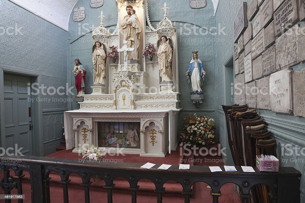 Interior Saint Brother Andres Chapel Montreal stock photo