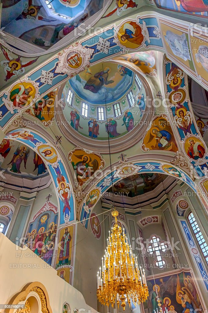 Interior Saint George Cathedral Vydubytsky Monastery Kiev Ukraine stock photo