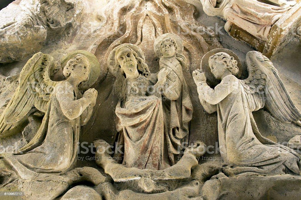 Interior Saint Mattias church stock photo