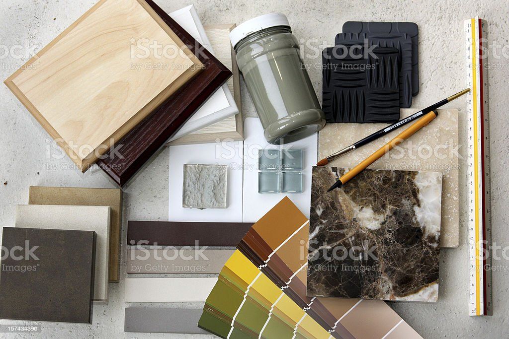 Interior samples royalty-free stock photo