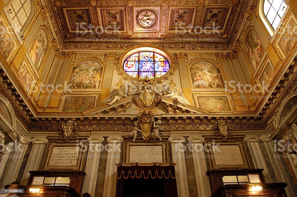 Interior Santa Maria Maggiore royalty-free stock photo