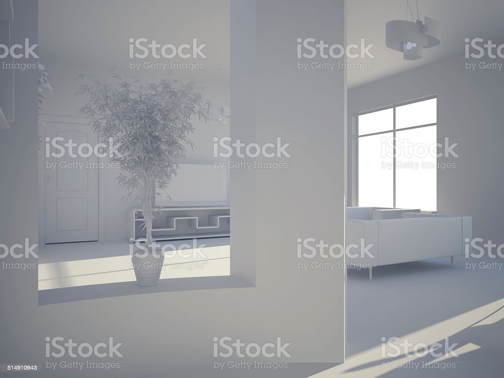 Interior set hundred ninety three vector art illustration