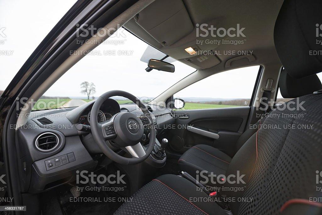 Interior shot  of a Mazda 2 stock photo