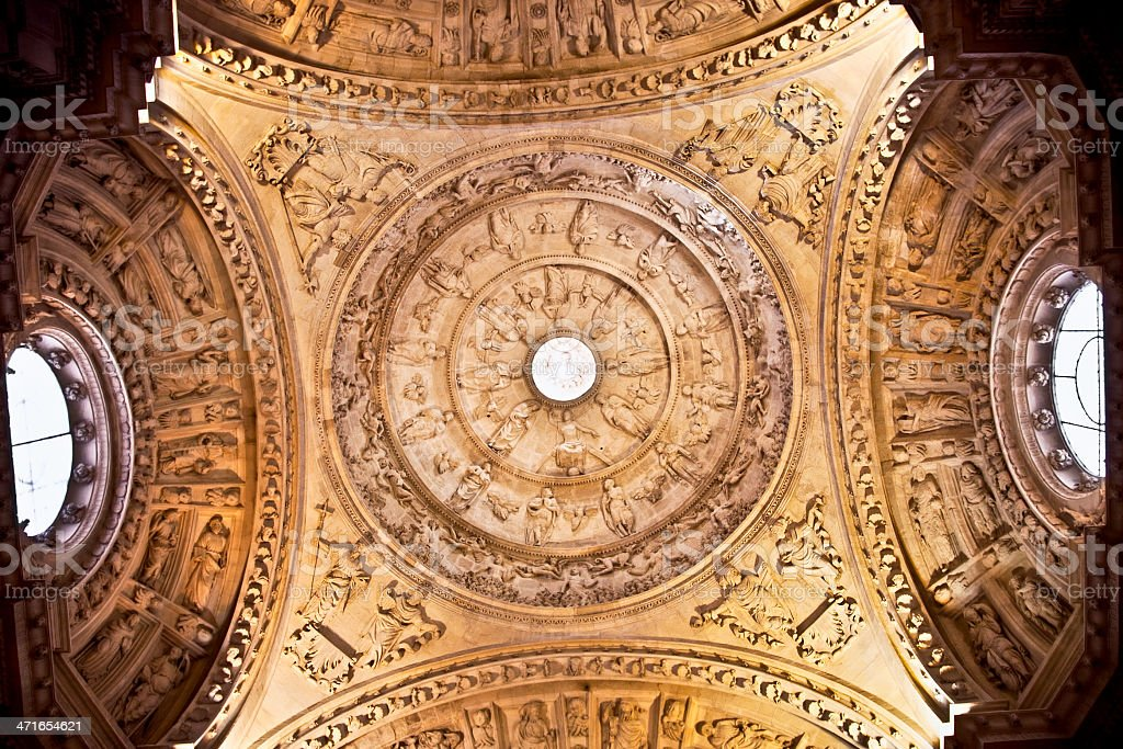 Interior side dome of the Saint Mary cathedral, Seville, Spain. royalty-free stock photo