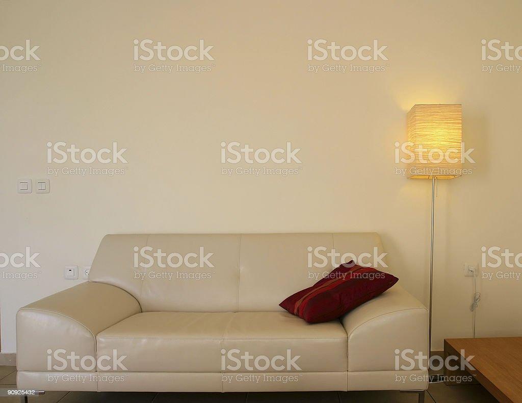 Interior: Sofa and Lamp royalty-free stock photo