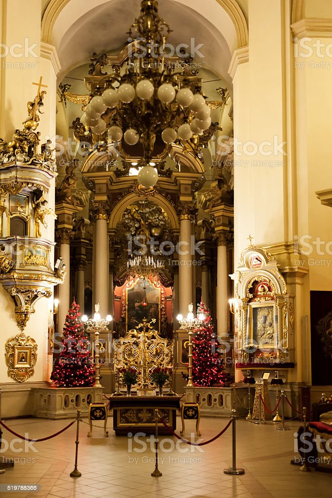Interior St. George's Cathedral stock photo
