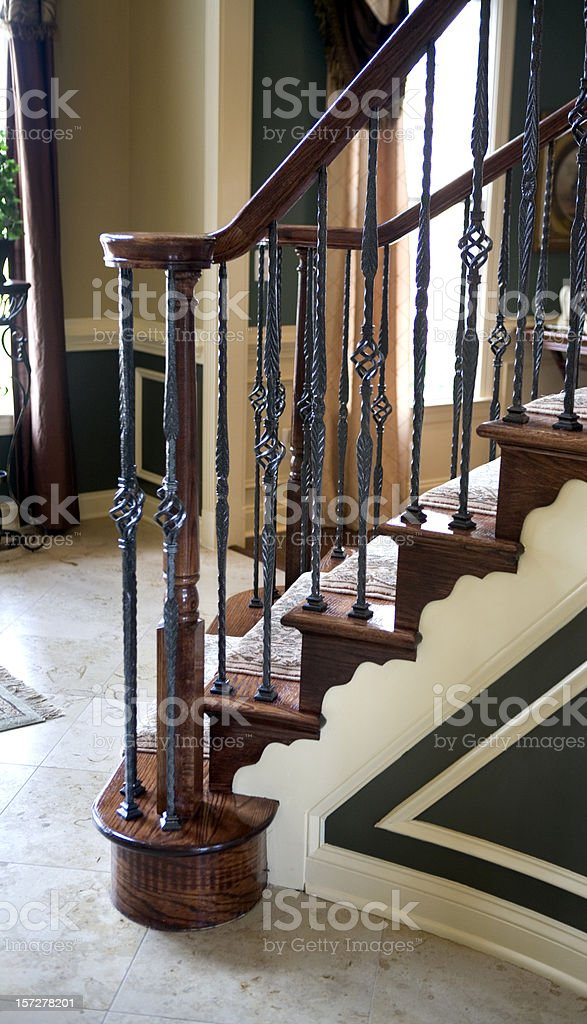 Interior Staircase  Modern Luxury Home royalty-free stock photo