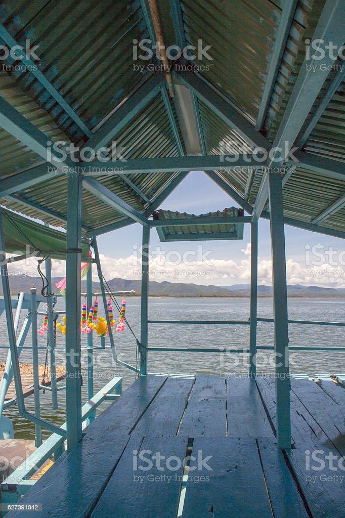 interior steel ferry boat transport car stock photo
