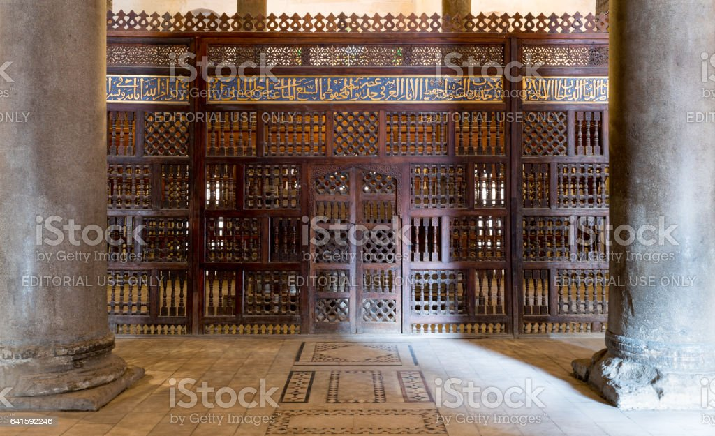 Interior the mausoleum of Sultan Qalawun, Old Cairo, Egypt stock photo