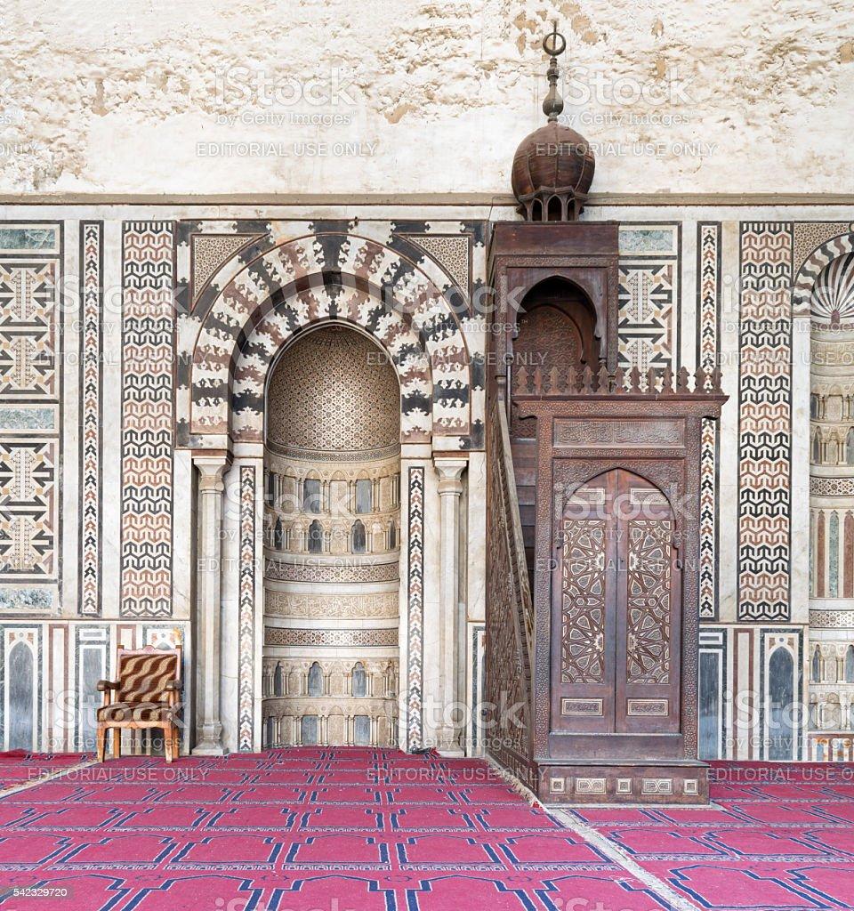 Interior the Mosque of Al Nasir Mohammad Ibn Qalawun stock photo