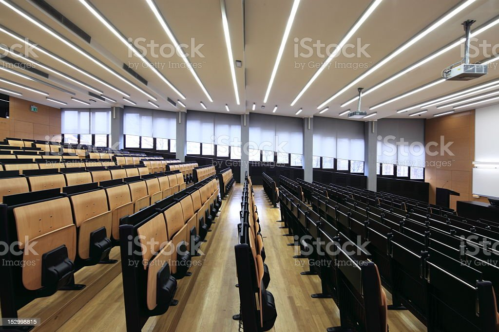 Interior view of an empty lecture hall royalty-free stock photo