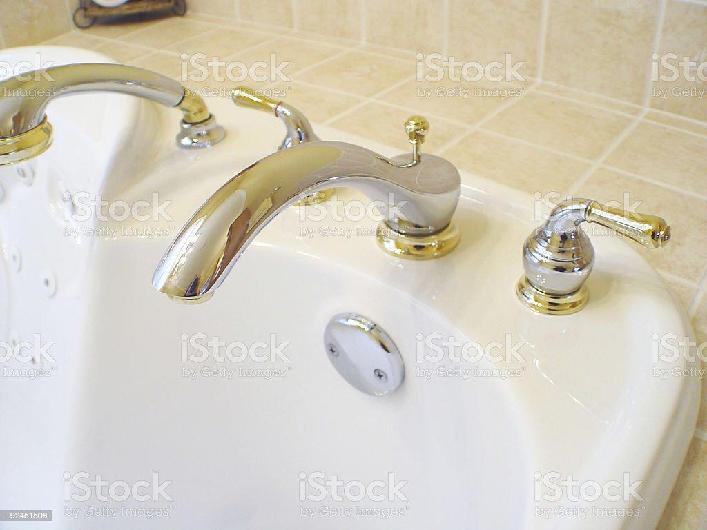 Interior View of Bath Tub royalty-free stock photo