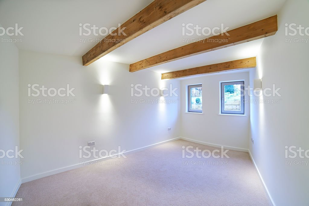 Interior View Of Beautiful Luxury Empty Bedroom stock photo