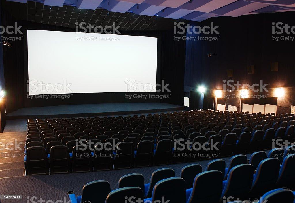 Interior view of cinema theater stock photo