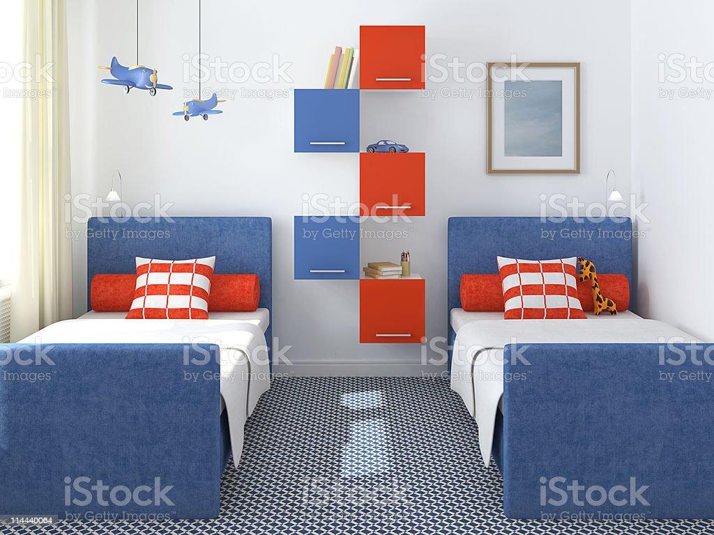 Interior view of kids playroom royalty-free stock photo