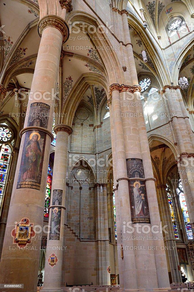 Interior view of Liebfrauenbasilika church in Trier stock photo