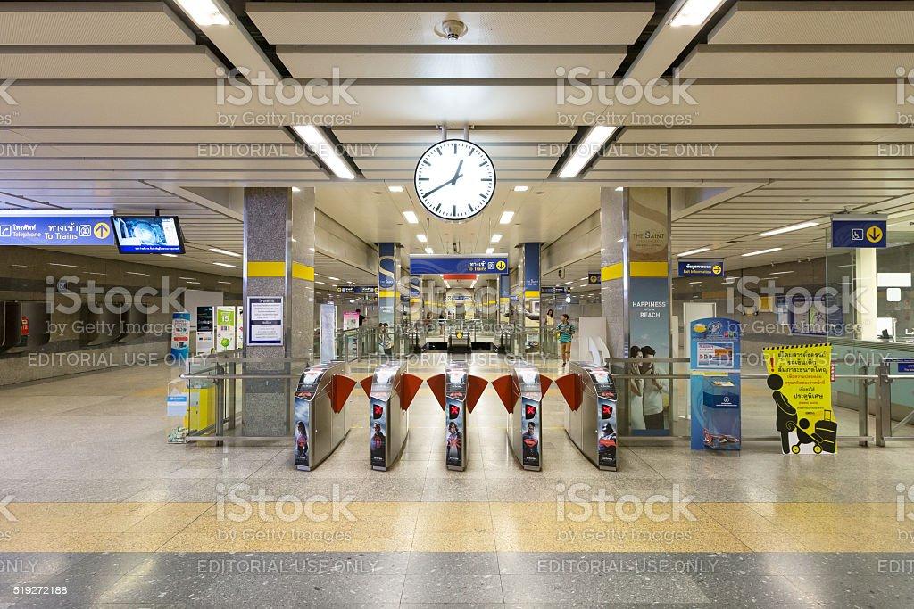 Interior view of MRT Station. stock photo