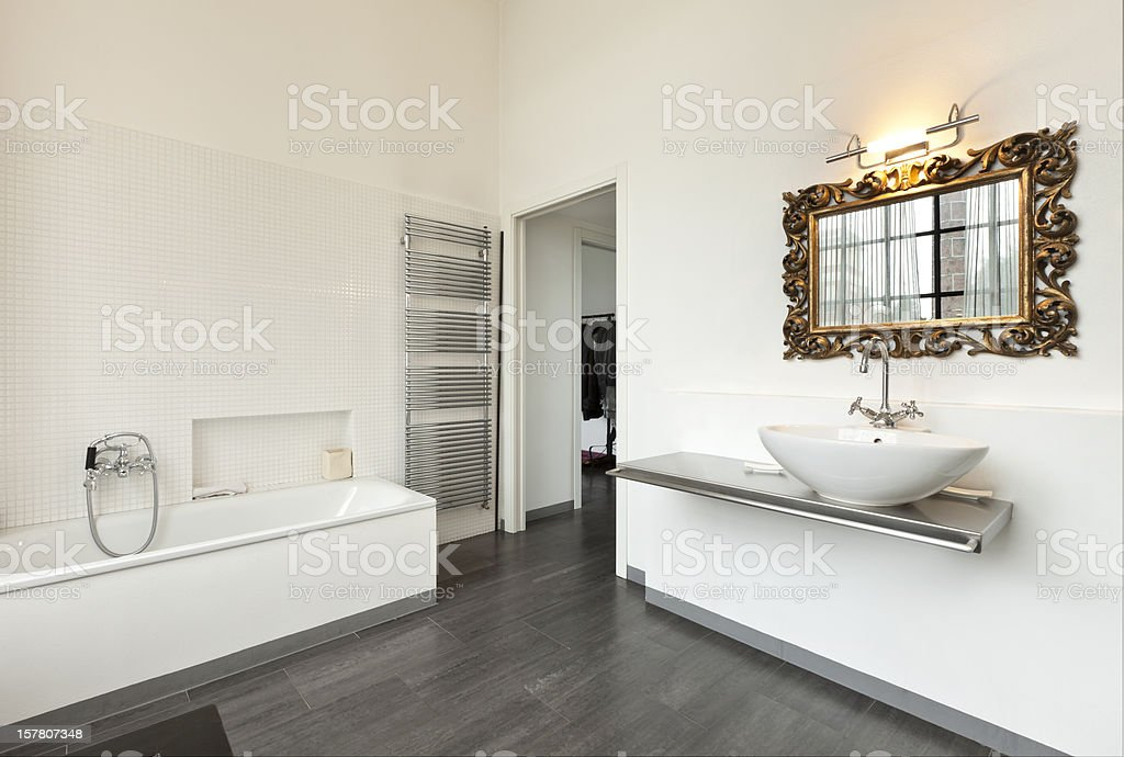 interior, view of the bathroom royalty-free stock photo