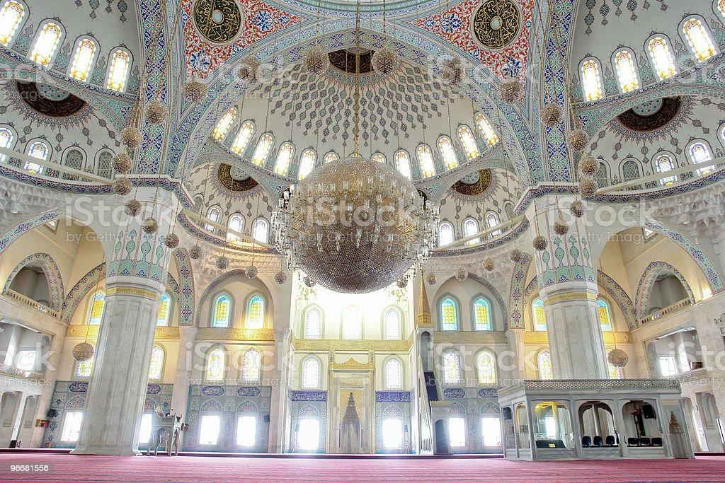 Interior view of the Kocatepe Mosque in Ankara, Turkey stock photo