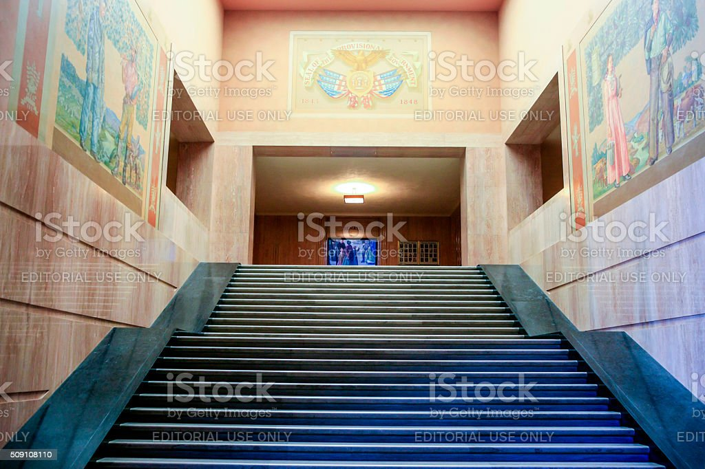 Interior view of the Oregon State Capitol building stock photo