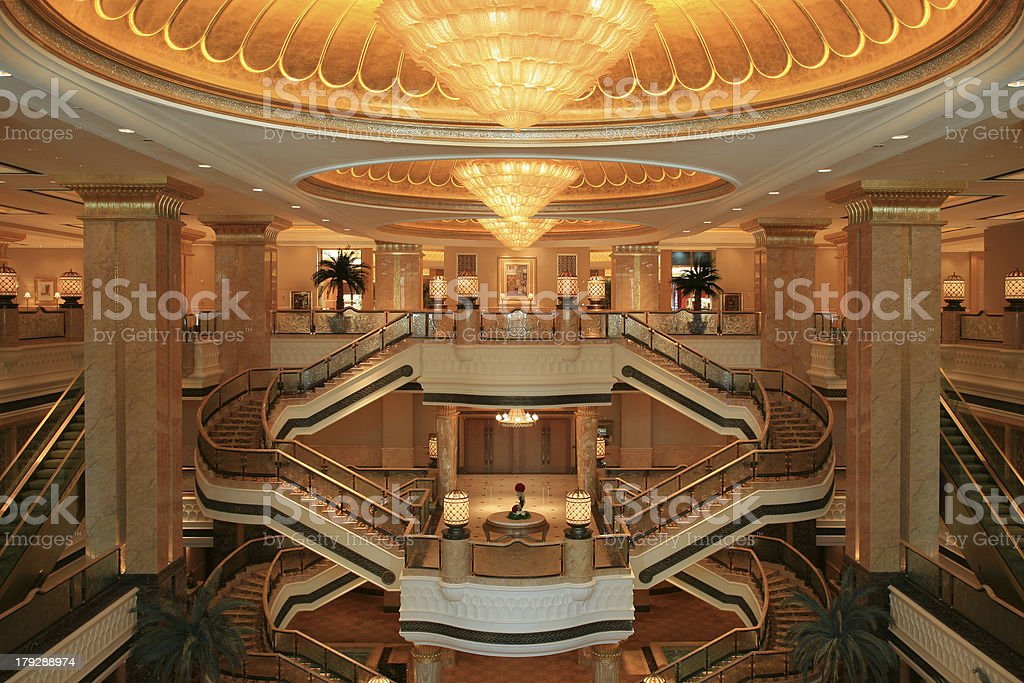 Interior View of the Palace stock photo
