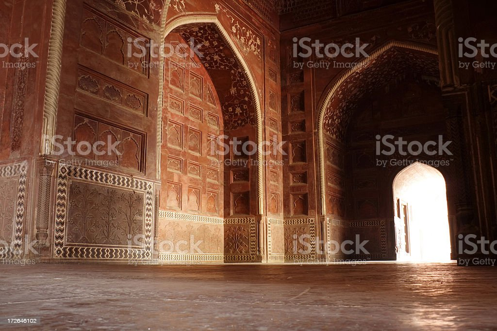 Interior view of the Taj mahal complex royalty-free stock photo