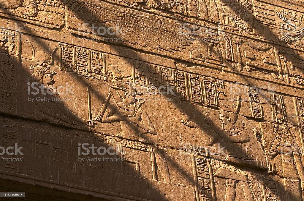 Interior Wall carving stock photo