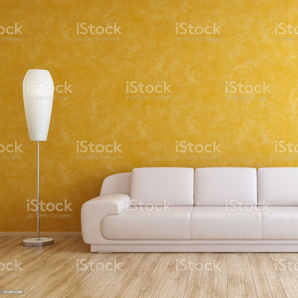 Interior Wall in Modern Room stock photo