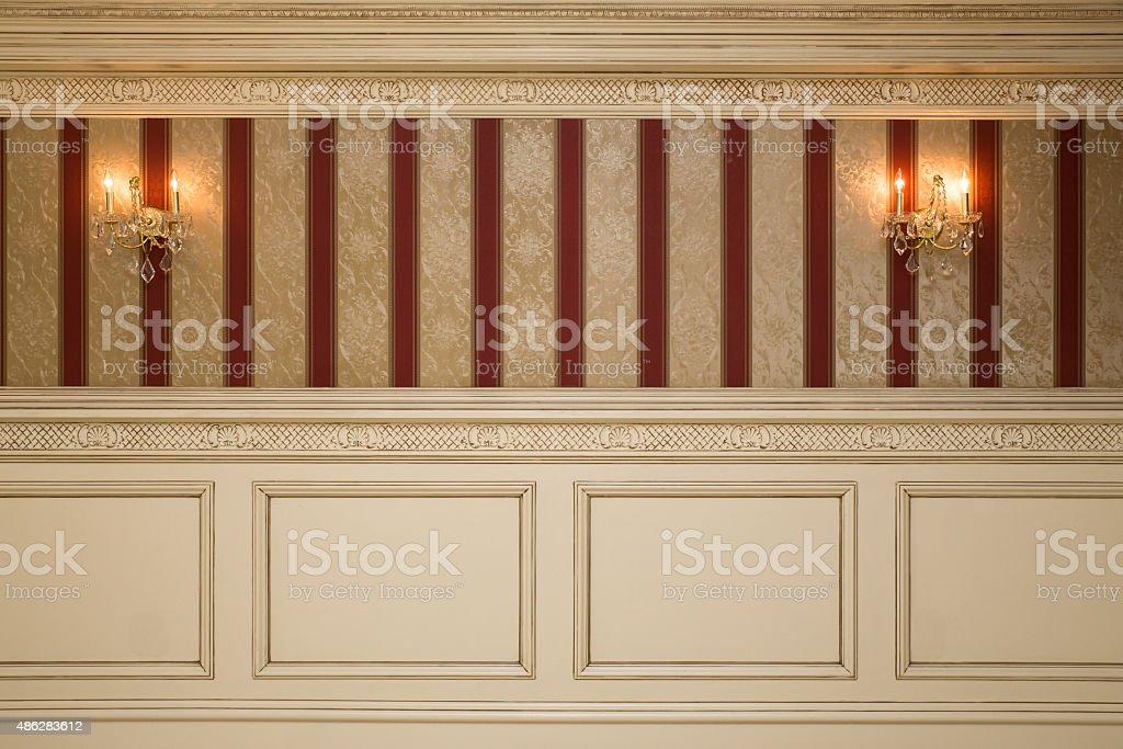 Interior Wall stock photo