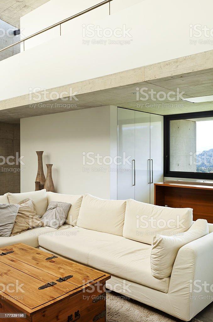 interior, white divan royalty-free stock photo