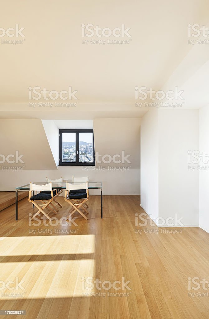 interior, wide loft royalty-free stock photo