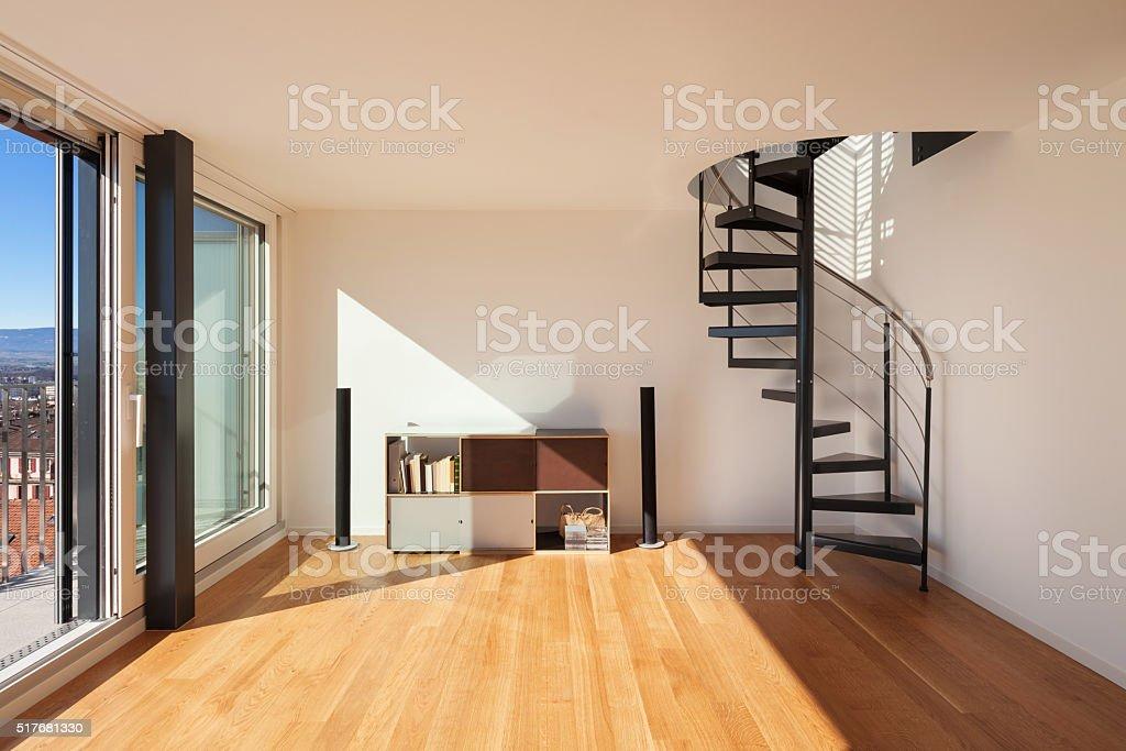 Interior, wide open space stock photo