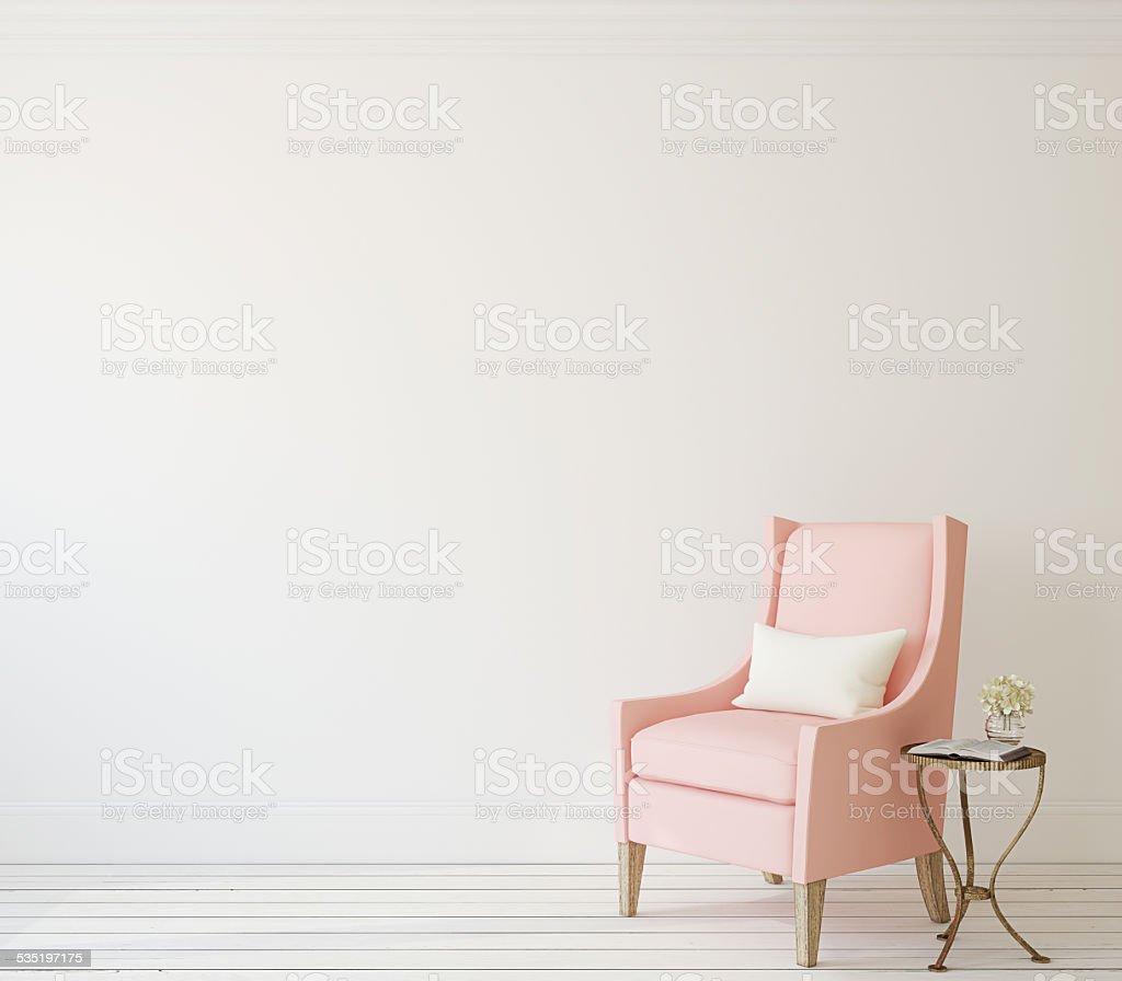 Interior with armchair. stock photo