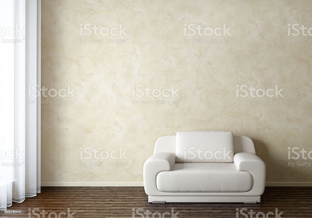 Interior with Chair stock photo