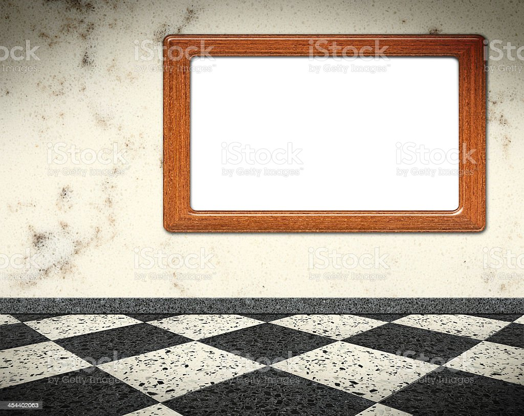 Interior with clipping path frame royalty-free stock photo