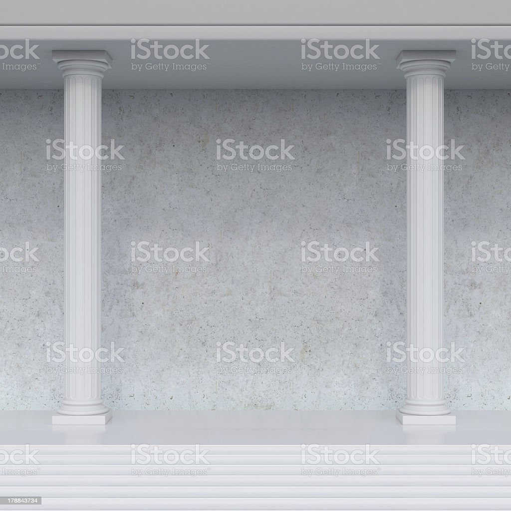 interior with columns royalty-free stock photo