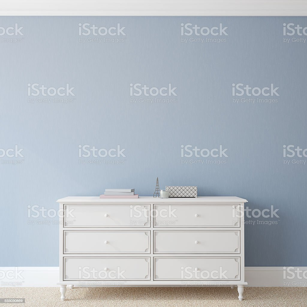 Interior with dresser. stock photo