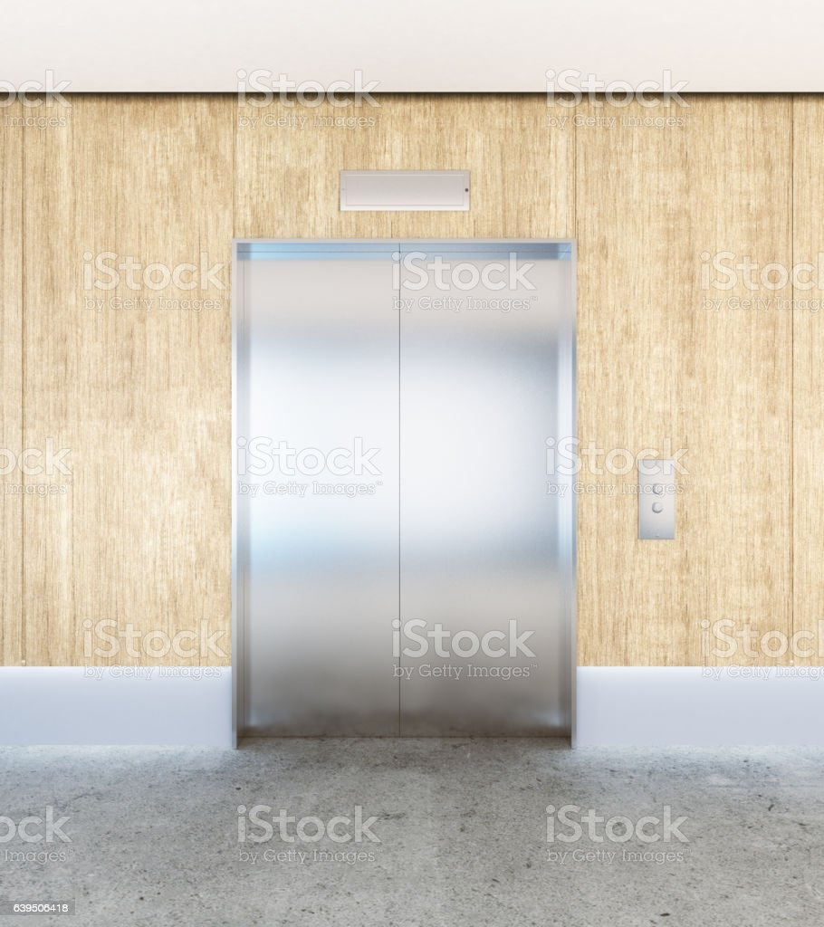 Interior with elevator stock photo