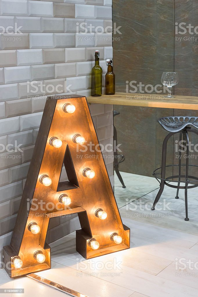 interior with popular letter - lighter stock photo